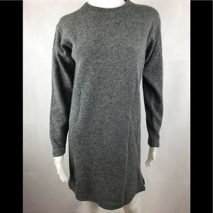 J.Crew XS Gray Long Sleeve Lambswool Sweater Dress